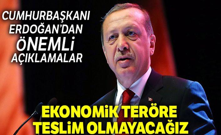 Cumhurbaşkanı Erdoğan partililere hitap etti