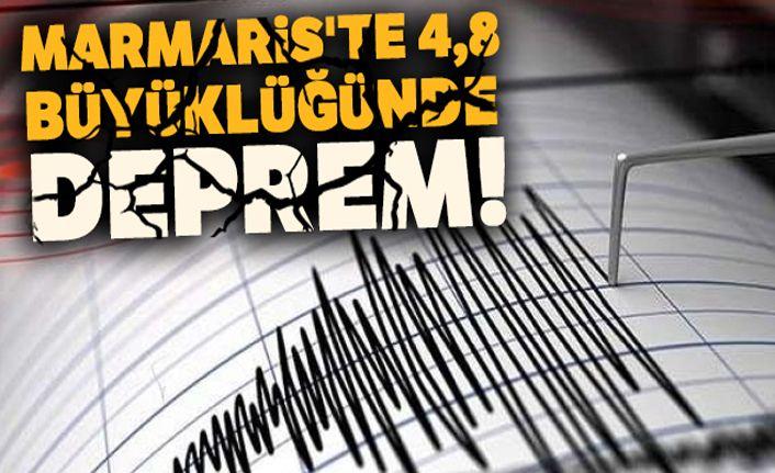 Marmaris'te 4,8 büyüklüğünde deprem