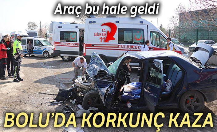 İşçi servisiyle otomobil çarpıştı: 12 yaralı