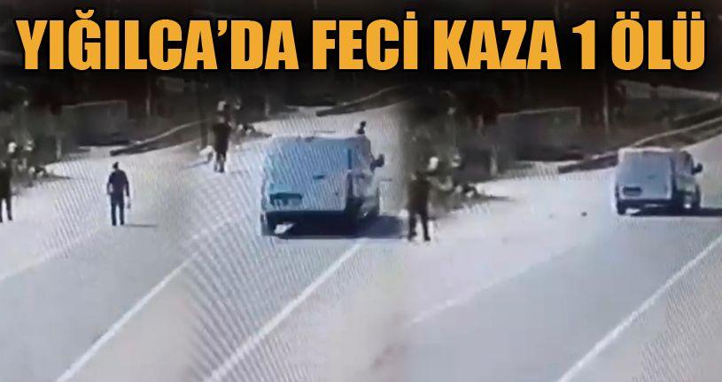 Yolun Karşısına Geçmeye Çalışan Adama Minibüs Çarptı