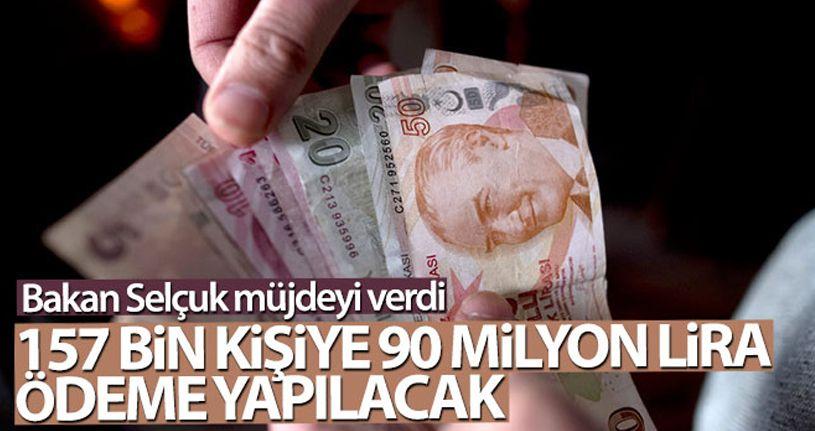 157 bin ihtiyaç sahibine 90 milyon lira ödeme yapılacak