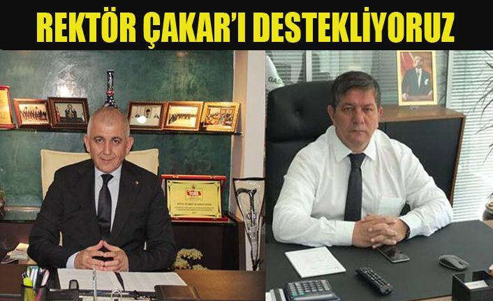 Rektör Çakar'a DTSO'dan tam destek