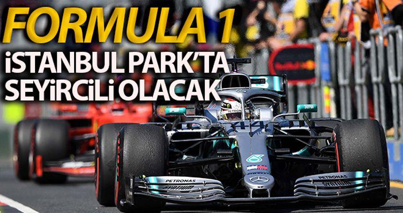 Formula 1 seyircili olarak koşulacak