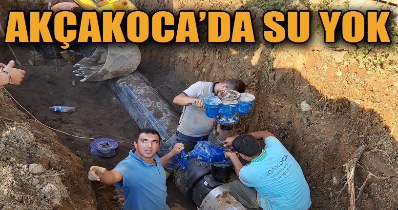 Akçakoca'da su kesintisine anında müdahale