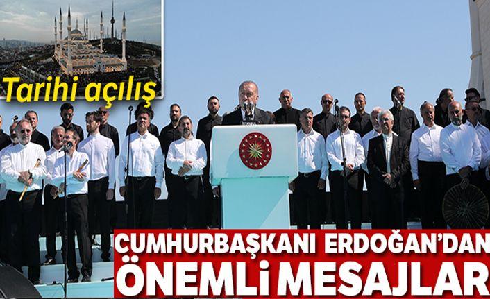 Çamlıca Camii'nin resmi açılışı Cumhurbaşkanı Erdoğan'ın katılımıyla yapıldı