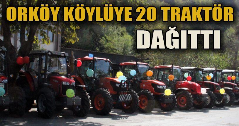20 Traktör hak sahiplerine teslim edildi