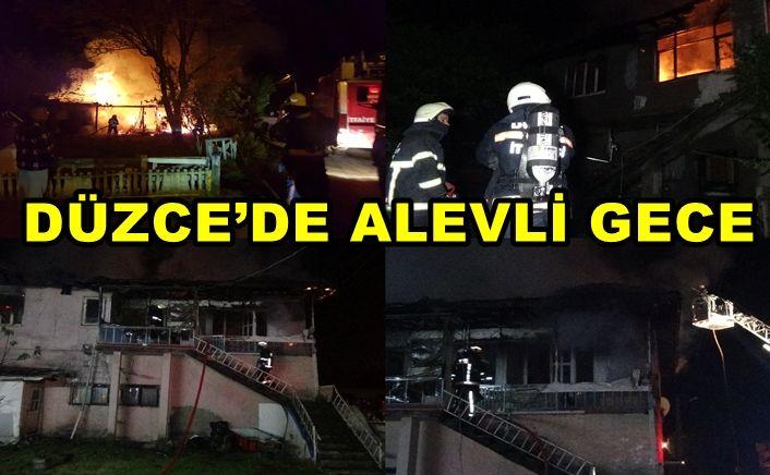 Aynı saatlerde 2 farklı mahallede aynı saatlerde yangın çıktı