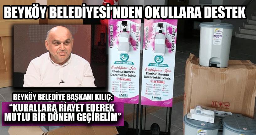 Beyköy Belediyesi'nden Okullara Destek