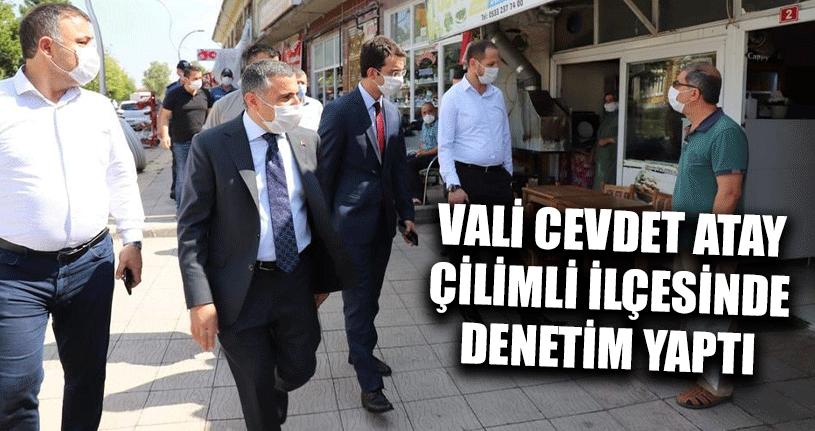 Vali Cevdet Atay Çilimli İlçesinde Denetim Yaptı
