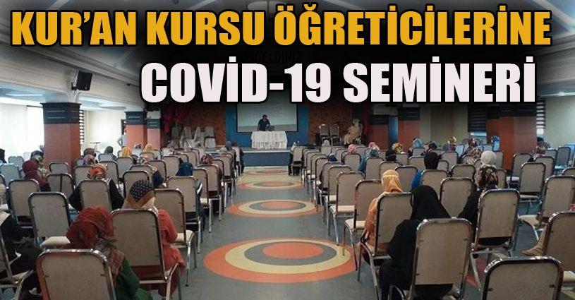 Kur'an kursu öğreticilerine Covid-19 semineri