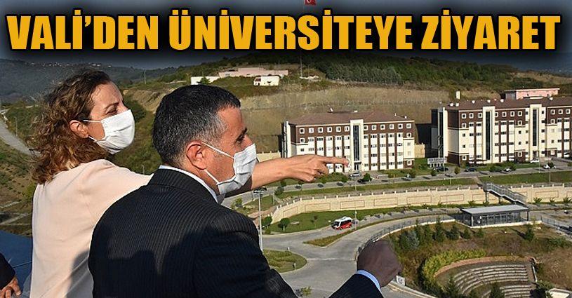 Vali Atay Düzce Üniversitesini Ziyaret Etti