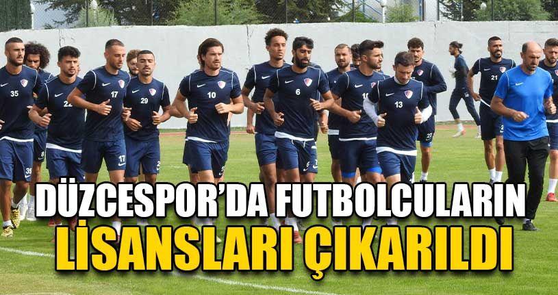 Düzcespor'da Futbolcuların Lisansları Çıkarıldı