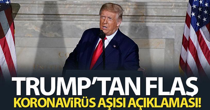 Trump: 'Covid-19 aşısı 2021 Nisan ayına kadar her Amerikalıya ulaşacak'