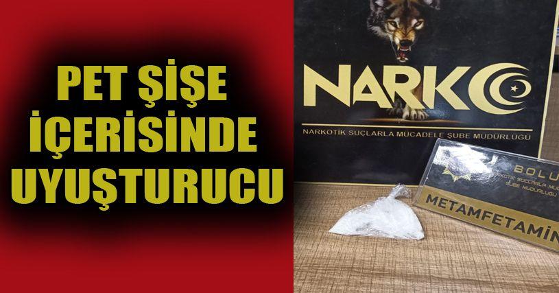 Pet şişe içerisinde 31 gram uyuşturucu yakalandı: 1 gözaltı