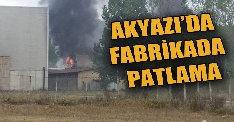 Akyazı'da fabrikanın kazan dairesinde patlama: 1'i ağır 2 işçi yaralı