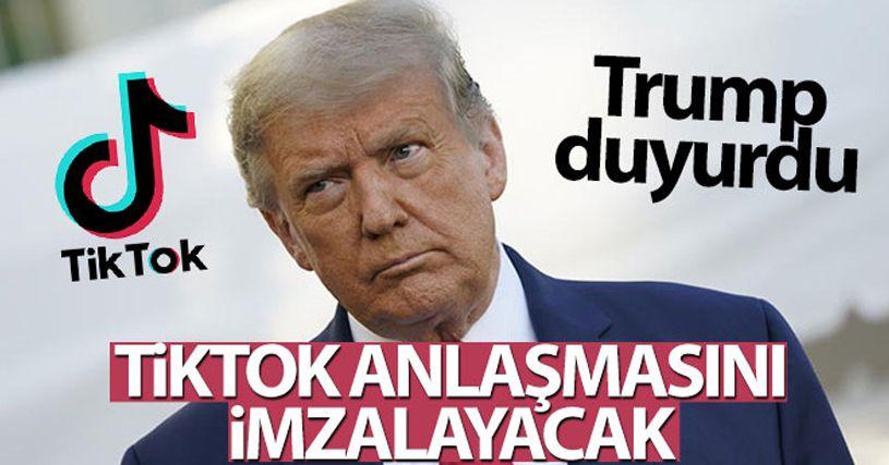 Trump, TikTok anlaşmasını imzalayacağını açıkladı