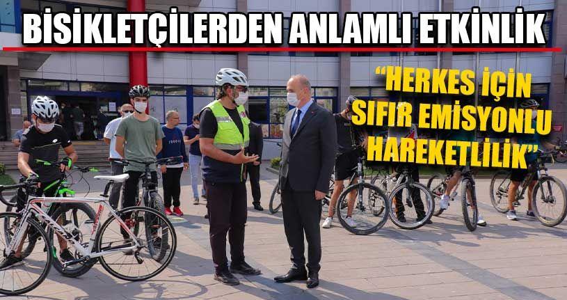 Bisikletçilerden Anlamlı Etkinlik