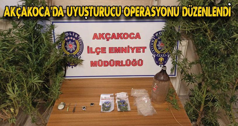 Akçakoca'da Uyuşturucu Operasyonu Düzenlendi