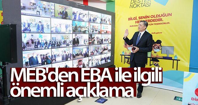 Milli Eğitim Bakanlığı'dan EBA Açıklaması
