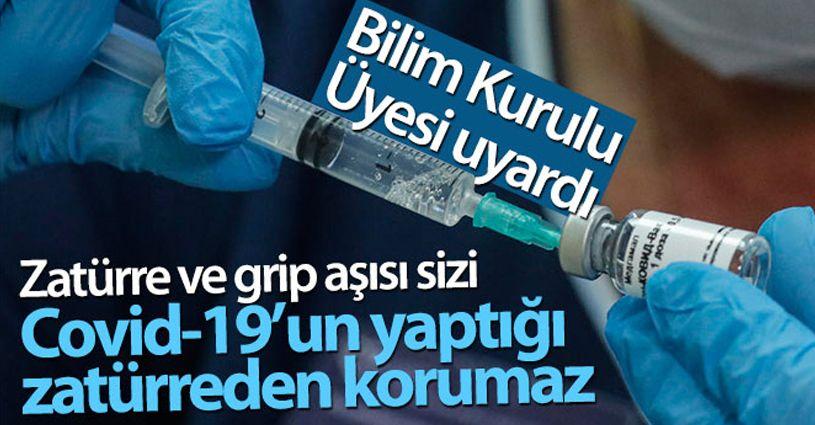 Zatürre ve grip aşısı sizi Covid-19'un yaptığı zatürreden korumaz