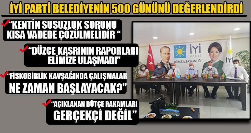 İYİ Parti Belediyenin 500 Gününü Değerlendirdi