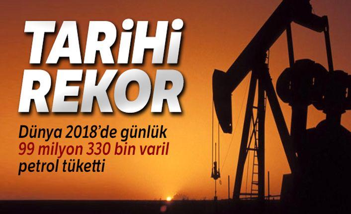 Petrol tüketiminde tarihi rekor