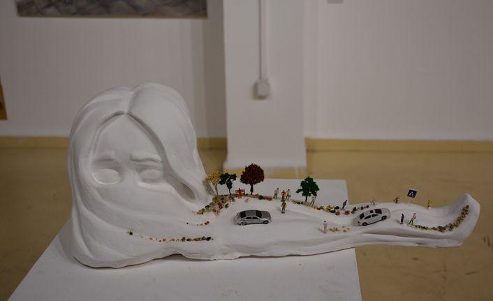 Sanat tasarım öğrencilerinin eserlerine yoğun ilgi