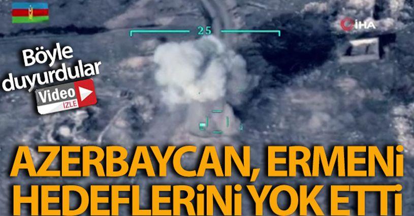 Azerbaycan, Ermenistan silahlı kuvvetlerine ait hedefleri yok etti