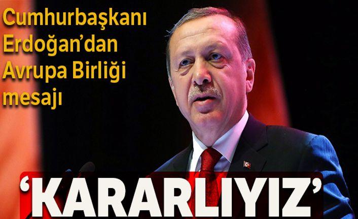Cumhurbaşkanı Erdoğan'dan 'Avrupa Günü' mesajı