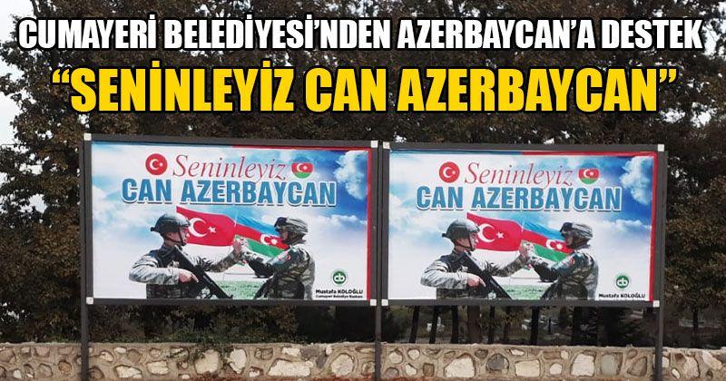 Cumayeri Belediyesi'nden Azerbaycan'a Destek