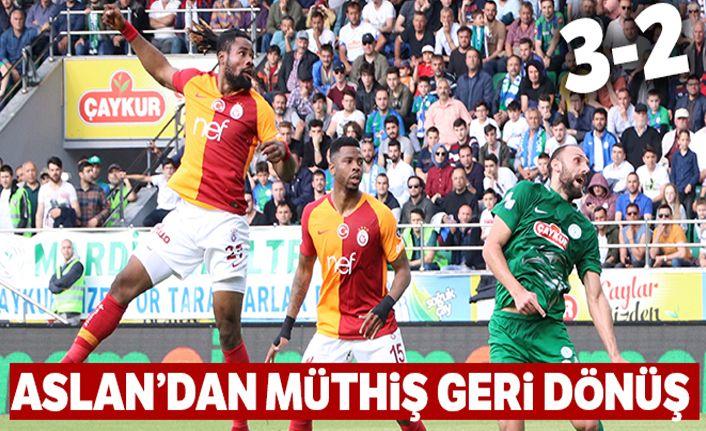 Rizespor: 2-3 Galatasaray