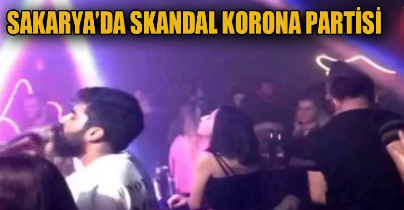 Sakarya'da skandal korona partisi görüntüleri