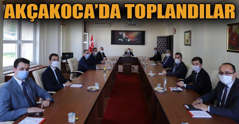 Akçakoca'da Kaymakamlar toplantısı gerçekleştirildi