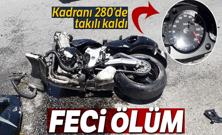 Kadranı 280'de takılı kalan motosiklet kazasında 2 kişi öldü