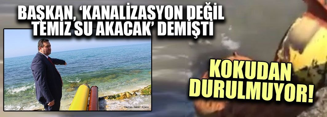 Çuhallı Plajına Kanalizasyon Akıyor