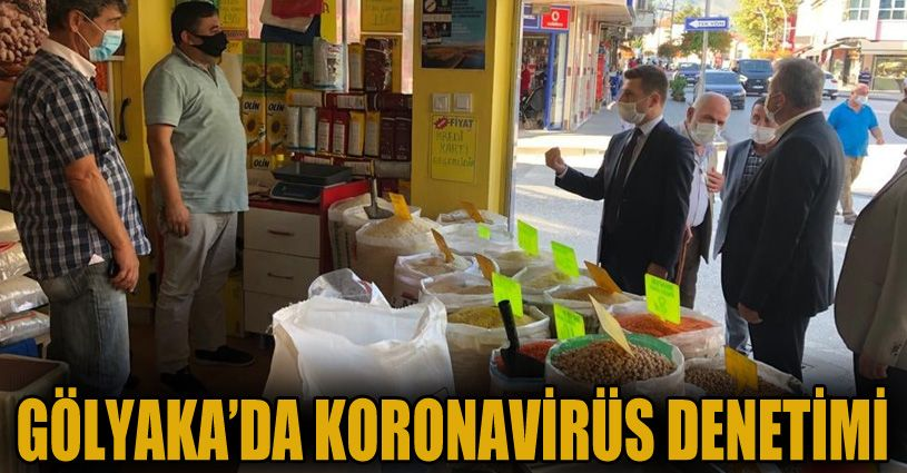 Gölyaka'da korona virüs denetimi