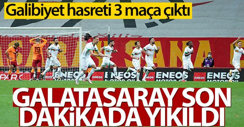 Galatasaray 1-2 Alanyaspor