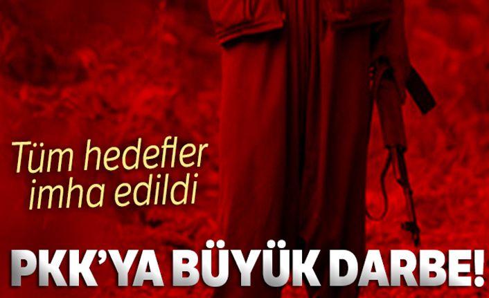 PKK'ya büyük darbe! Tüm hedefler imha edildi