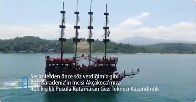 Melih Gökçek Gemiyle turlamak için herkes Akçakoca'ya gelecek