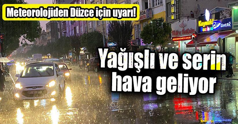 Yağışlı Ve Serin Hava Geliyor