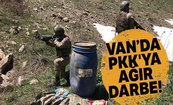 PKK'ya ağır darbe! Çok sayıda mühimmat ele geçirdi