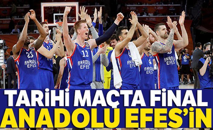 Final Four'daki Türk derbisinde kazanan Anadolu Efe