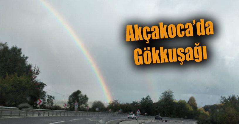 Akçakoca'da Gökkuşağı Görüldü
