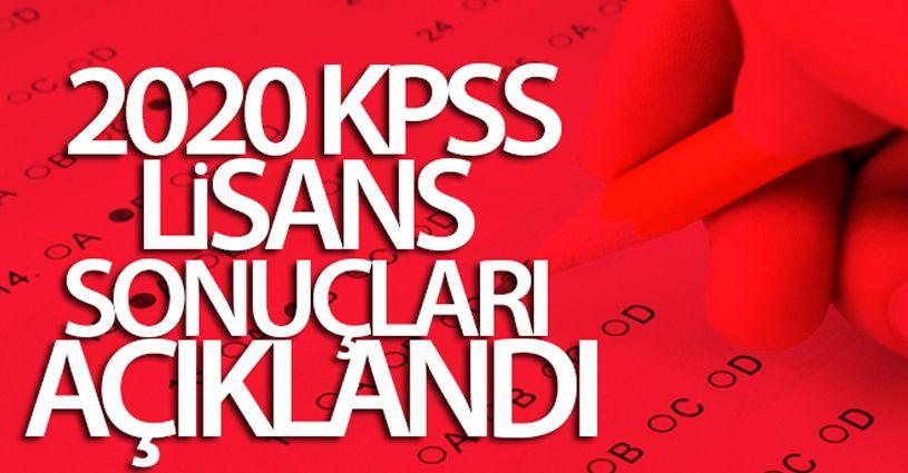 2020 KPSS lisans sonuçları açıklandı
