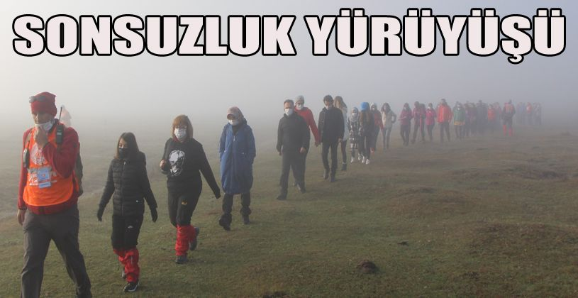 """Bolu'da sisler içinde Atatürk için 'Sonsuzluk Yürüyüşü"""""""