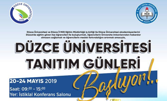 Düzce Üniversitesi Tanıtım Günleri Başladı