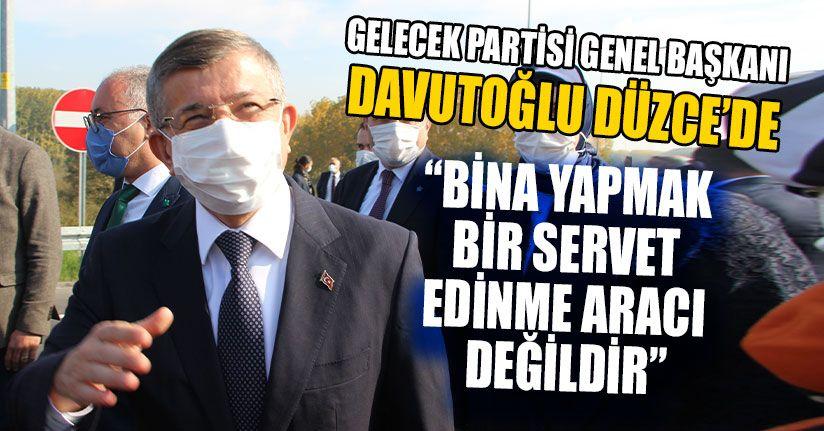 Gelecek Partisi Genel Başkanı Davutoğlu Düzce'de