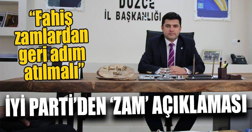İYİ Parti'den 'Zam' Açıklaması