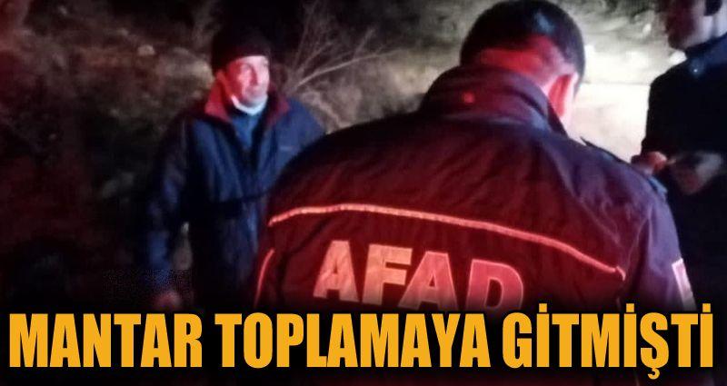 Mantar toplamak için gittiği ormanda kaybolan vatandaş bulundu