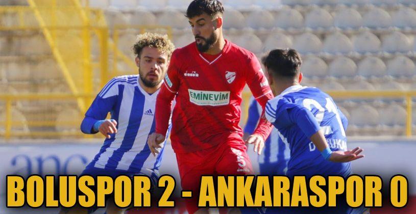 Boluspor: 2 - Ankaraspor: 0